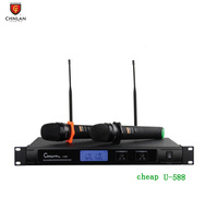 UHF high quality handheld cheap wireless microphone U-588