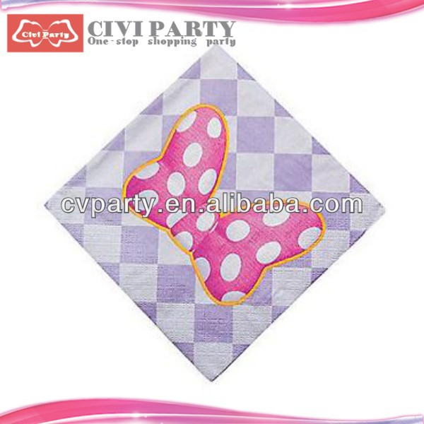 Printed napkin paper peach color napkins