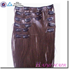 Full head Set 18inch Clip In Human Hair Extension, Indian Remy wholesale 200 gram clip in human hair extensions