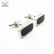 Professional Custom Cufflinks Manufacturer, Custom Stainless Steel enamel Cuff Link, Wholesale Black Metal Cufflinks for men