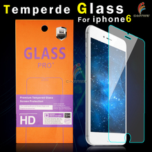 9 Years Supply 0.26mm Anti Shock Mobile Phone / Cell Phone LCD 9H 2.5D tempered glass screen protector for iPhone 5 5c 5s