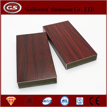 Wood grain pinted aluminum extrusion flexible flat tube manufacturer in China