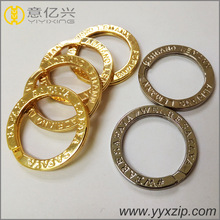 Hot selling zinc alloy gold plated round metal split O gold ring
