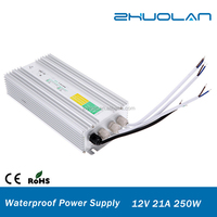 AC 230V to DC 12V 21A 250W Factory Price power bank Waterproof Led Power Supply