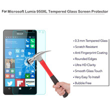 Anti-smudge Shock-Proof Trade Assurance Vacumm Electroplating Glass Screen Protector For Lumia 950XL