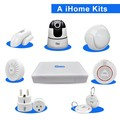 Home security alarm and camera system with 8CH NVR gateway