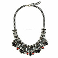 Fashionable black bead collar necklace, wholesale black bead chunky necklace latest designs