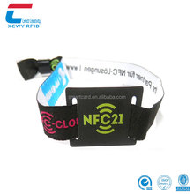 RFID Tag Factory NTAG 213 NFC Wristband Woven RFID Wristband Price