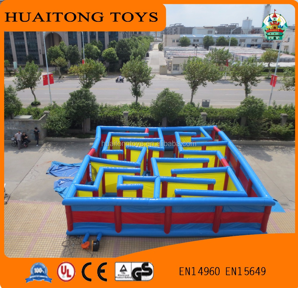 2016 new kids maze game indoor/outdoor fashion inflatable tunnel maze for sale