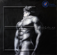 Wholesale Hot Selling High Quality Wall Art Decoration Modern Handmade Canvas Nude Men Oil Painting