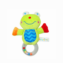Babyfans baby hand bell frog toys soft plush toy baby rattles china rattle