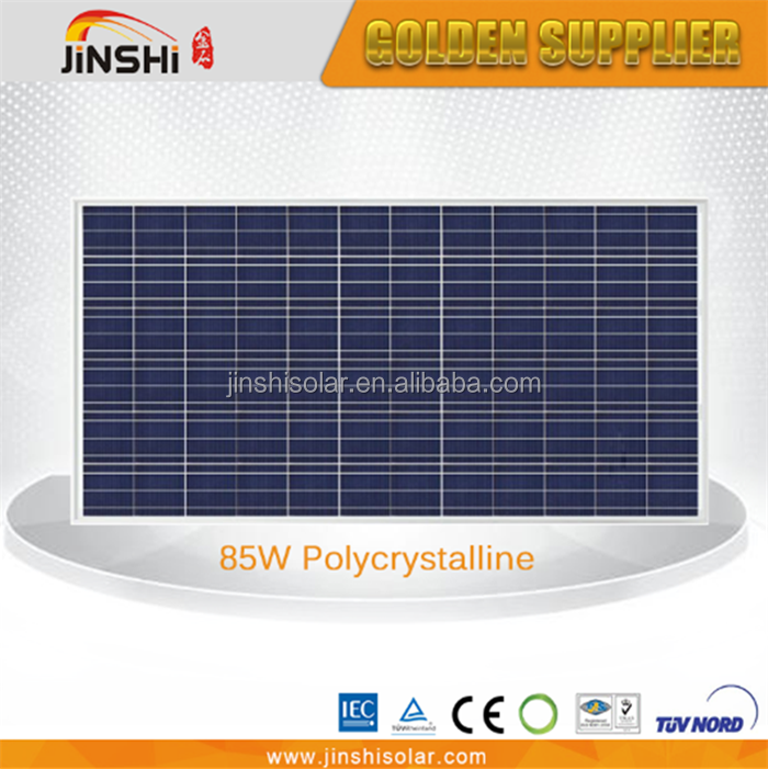 85 watts poly Solar panel module with IEC,TUV,CE,CEC,ISO from Zhejiang Ningbo Manufacturer factory