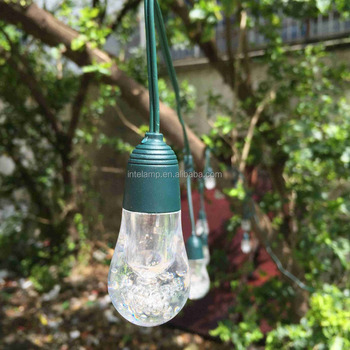 led solar string light with outdoor cctv camera solar string lamp for Garden and party