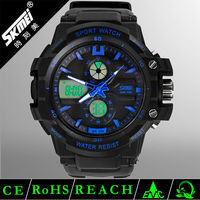strong water resistant multiple time zone watch quartz chrono sport watch