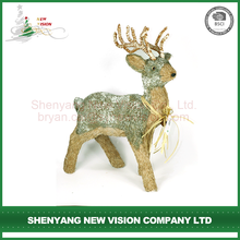 High Quality Cheap table decoration christmas bristle grass deer