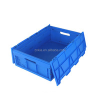 Used plastic crates with handle