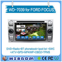 2016 highest quality for ford focus can bus navigation system car dvd player for focus in black&silver color