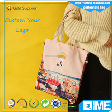 Multi-color Fashion Custom Blank Sublimation Cotton Tote Bag