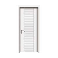 Flame Retardant New Design PVC High Quality Main Entrance Wood Door