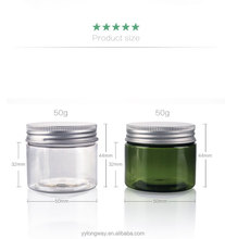 large and small round color custom clear empty containers plastic cosmetic packaging cream jar