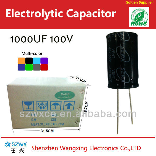 Low LC&Impedance type 1000uf 100v Aluminum Electrolytic Capacitors