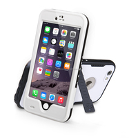 "2016 new design waterproof/Shockproof Stand Case Cover for Iphone 6 Plus 5.5"" White"