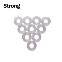 Flat transparent silicone rubber gasket for bottle stopper