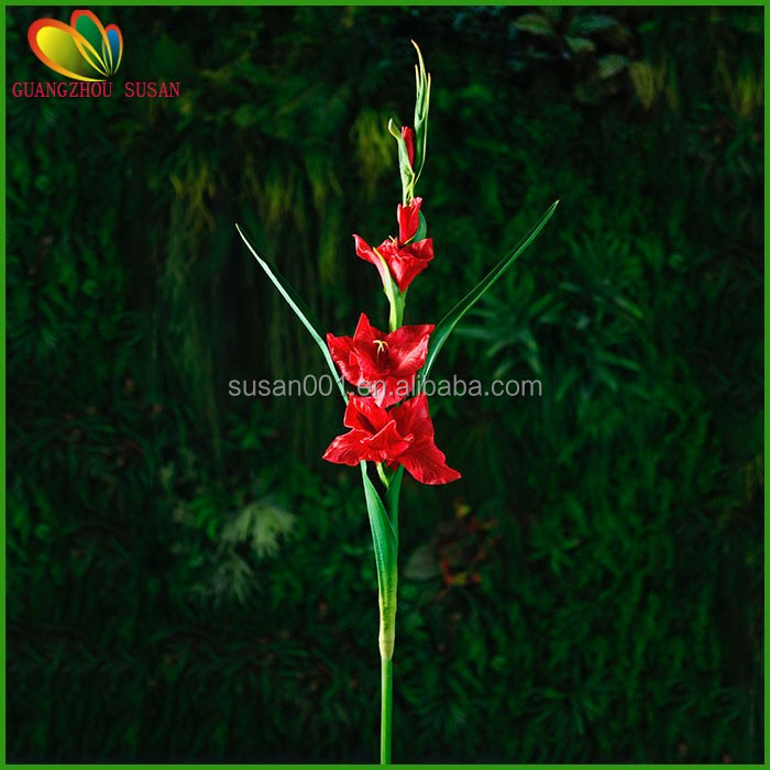 Hot sale good quality artificial large gladiolus flower for home and garden decoration