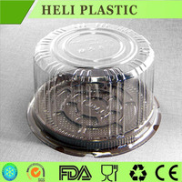 Round design clear top takeaway wedding cake container