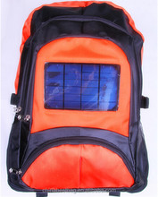 2014 New Design 2000mah Battery Solar Bag Outside Solar Backpack