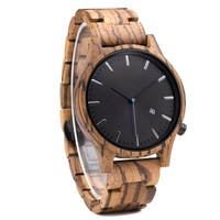 2019 Hot Selling Luxury Brand Wrist Watch Men Wooden Male Clock with Calendar Custom Blank Watch Mens Wristwatch Quartz New B09