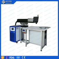 Huahai laser 300W aluminium laser high frequency welding machin price list for IC electronic components and advertising industry