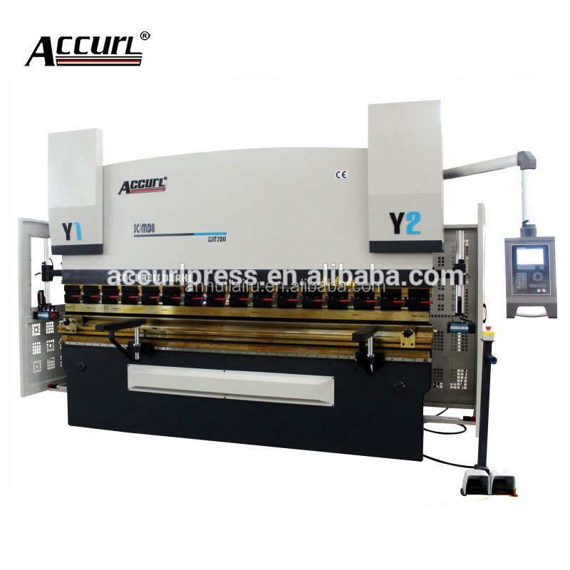 ACCURL new delem da56s New style WE67K 100t 3m hydraulic cnc press brake/bending machine/Schneider Electrical from French