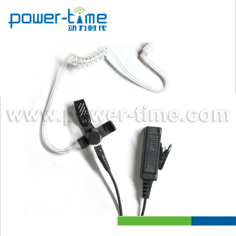 Wire with transparent tube 2 wire surveillance kit with Kevlar cable for policeman,