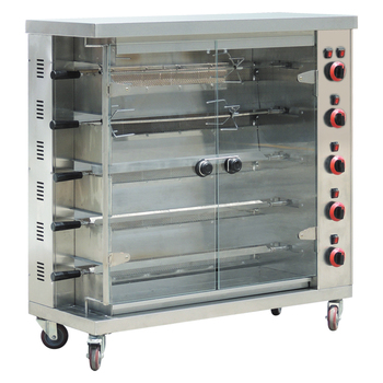 Foshan Heavy-duty Commercial 5-burners Gas Rotisserie Oven for Roast Chicken & Duck