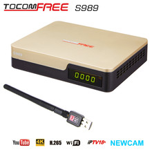2016 Hot selling 4K full HD TV satellite receiver Tocomfree S989 for South America