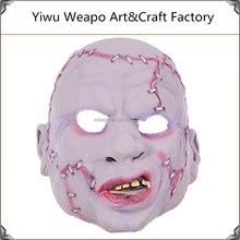 Promotion cheap realistic latex face mask cosplay zombie horror latex old man mask