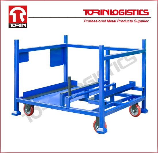metal stackable pallet auto parts rack/container