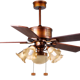 "chinese style 52"" classic electric ceiling fan with light"