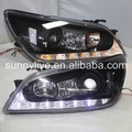2001-2005 Year LED Headlights Projector Lens Black Housing JY For Lexus IS200 IS300