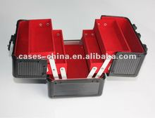 Professional beauty/Aluminium cosmetic case with trays and lock/case for cosmetics