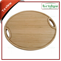 round carved bamboo kitchen cutting board
