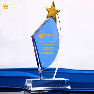 2018 Gifts Souvenirs china star cheep custom crystal dance trophy