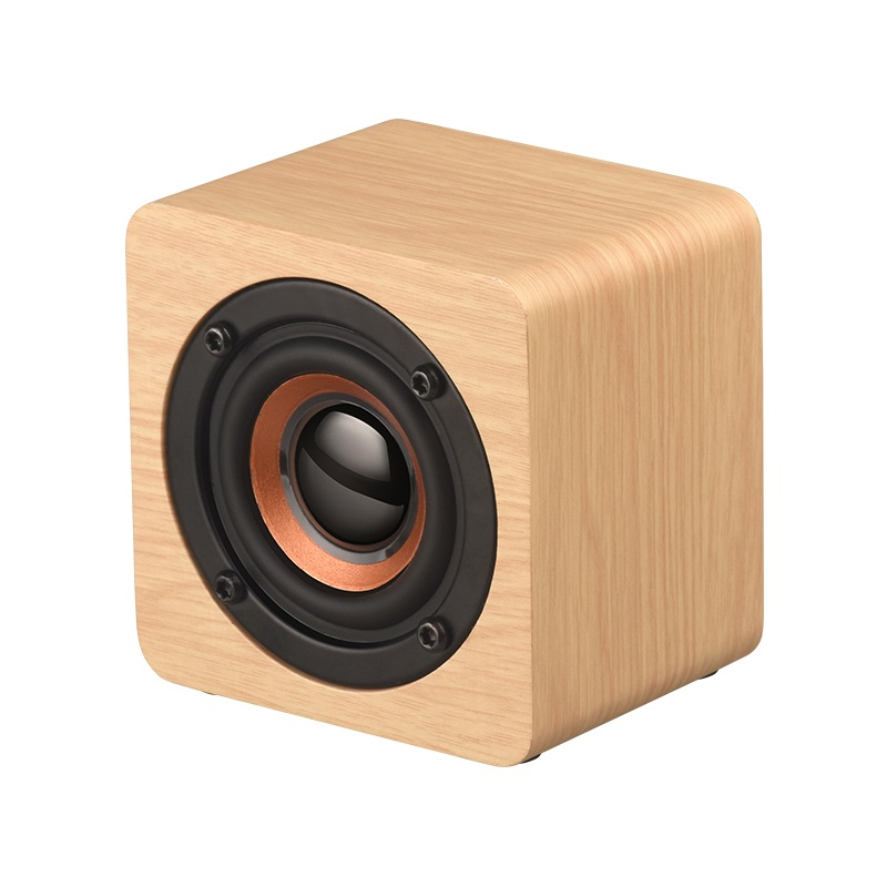 Portable size Wooden Cube Blutooth <strong>speaker</strong>