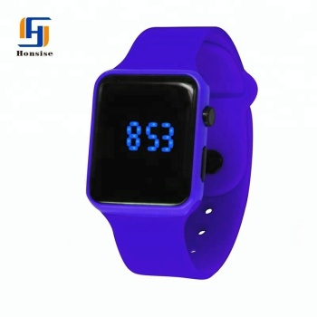 China Factory Wholesale Cheap Silicone Led Custom Logo Watches Men
