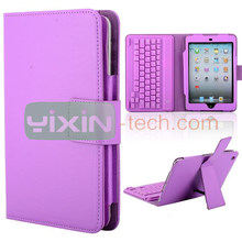 Lichee Texture Leather Case+Bluetooth Keyboard for iPad Mini With Bracket