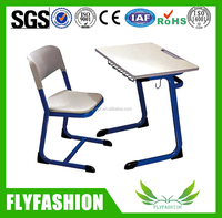High quality wooden study desk and chair/used school single desk with chair
