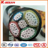 Low Price Low Voltage 5Core 25mm2 XLPE / PVC Insulated Aluminum Cable