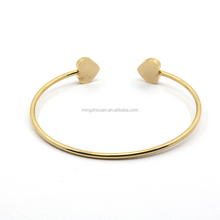Permanent steel bangle of heart jewelrys for girlfriend gift manufacturer