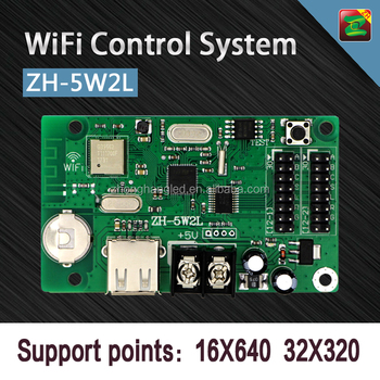 ZH P10 WIFI Control System LED Display Controller Which Sent Message By Mobile Phone/Laptop/Desktop